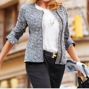 CAbi cliffside moto  symmetrical blazer